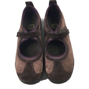 Merrell Circuit Mary Janes brown purple size 8.5